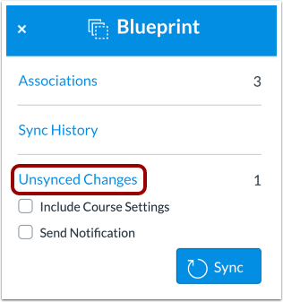 View Unsynced Changes