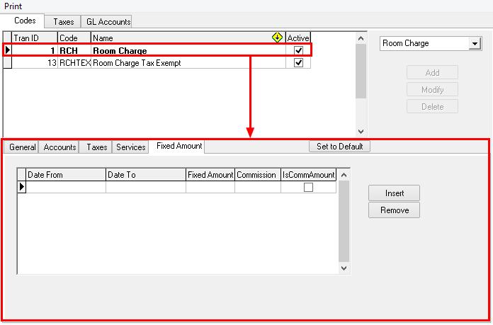 Fixed Amount Tab