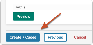 Click to create cases