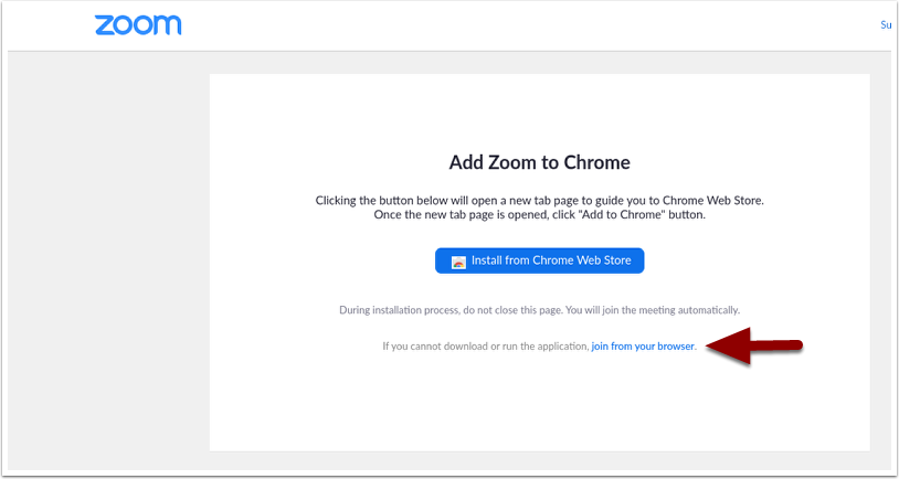 Add Zoom to Chrome page again