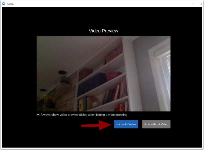 Zoom video preview page