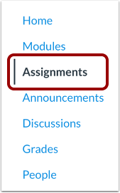 Open Assignments Index Page
