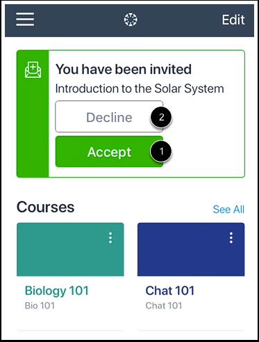 View Course Invitation