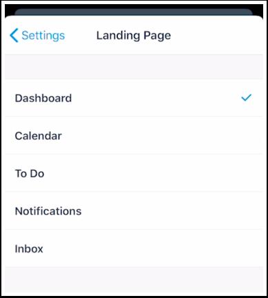 Set Landing Page