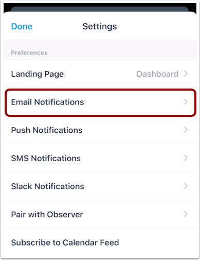 View Email Notifications