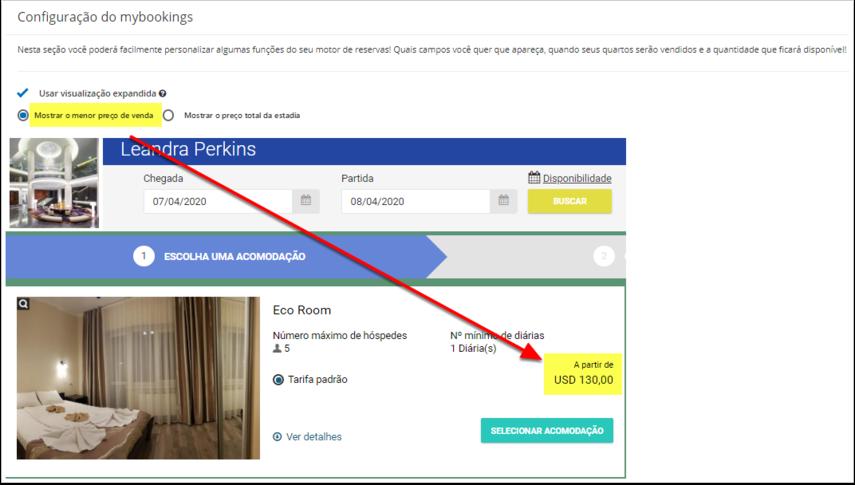 Leandra Perkins - Configuração do mybookings - Google Chrome