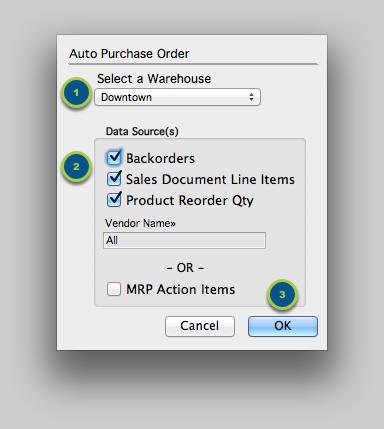 Run the Auto Purchase Order Process