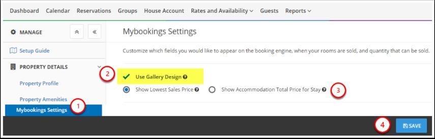 [Demo] Mountain Resort & SPA - Mybookings Settings - Google Chrome