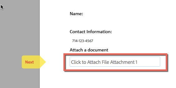 Box highlighting Attach a document box