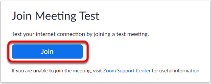 Join a Test Meeting - Zoom – Google Chrome