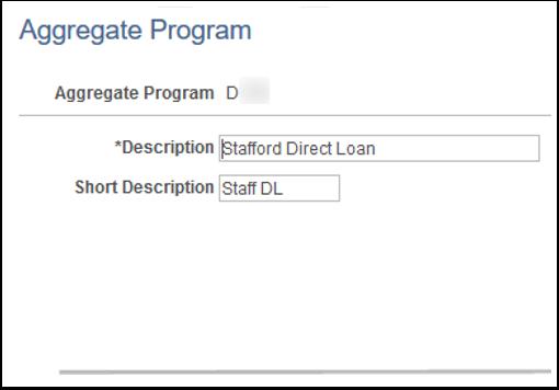 Aggregate Program page