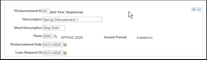 Disbursement I D page bottom