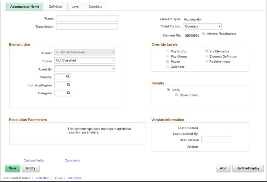 Accumulators Page Example