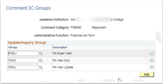 Comment 3C Groups page