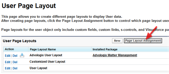 Option 1: Set 'Advologix USER Layout' as default User Layout