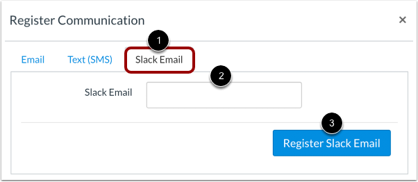Register Slack Email