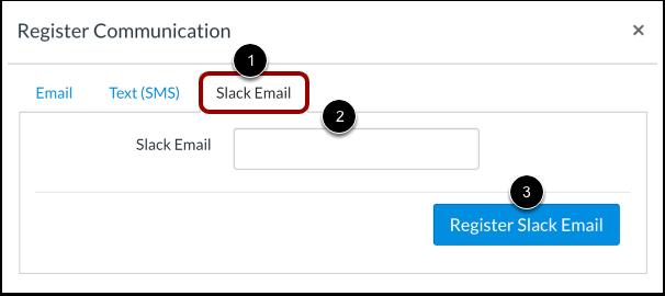Register Slack Email