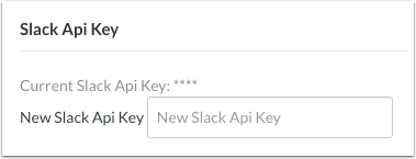 Visualizar chave de API do Slack