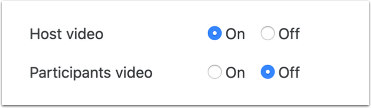 Video default options