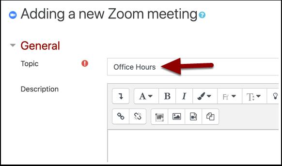 Zoom meetings settings