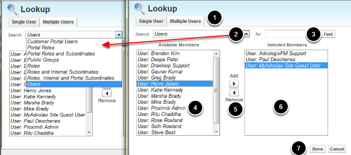 Lookup Multiple Users