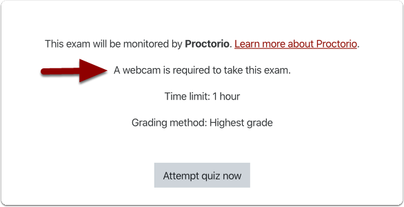 Exam home page