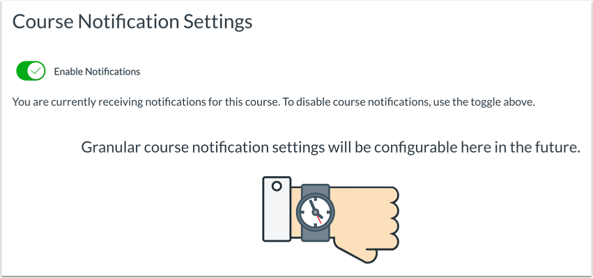 View Course Notification Settings