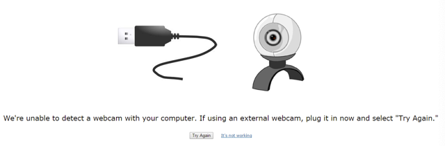 example screen shot of error message with webcam detection in respondus monitor
