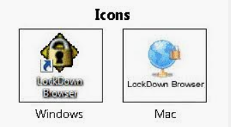 icons for windows and mac versions of LockDown Browser