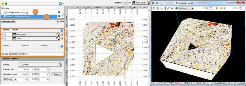 Remove seismic inside polygon