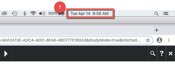 Box highlighting date and time in screenshot