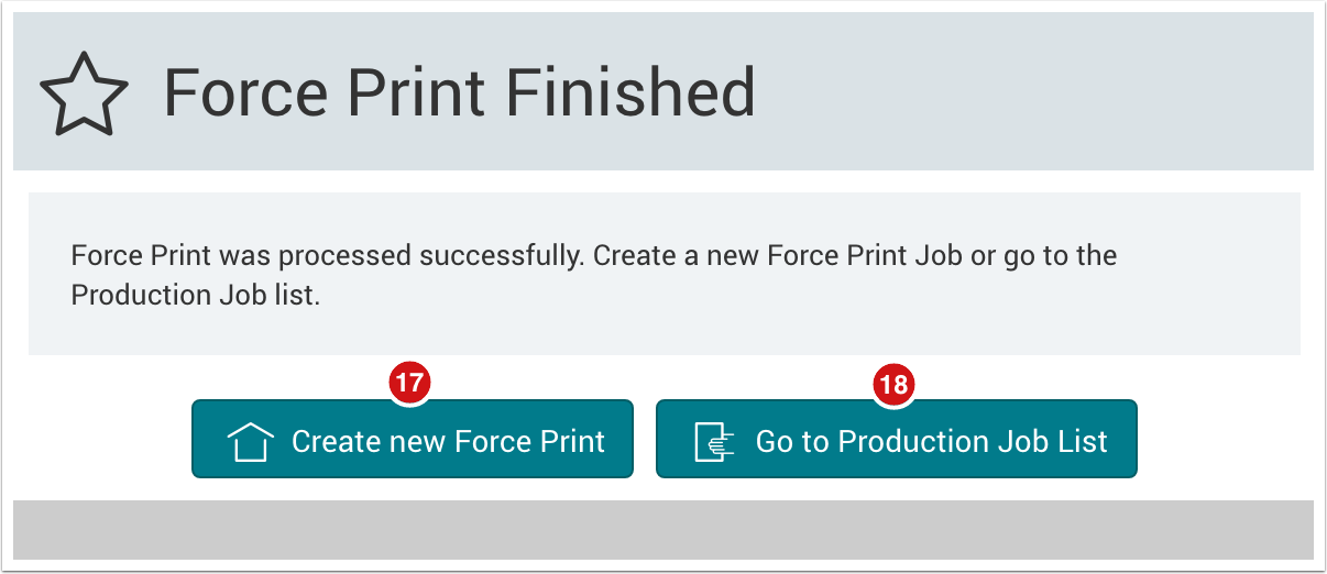 PMS WebGui :: Force Print Job