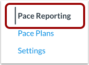Open Pace Reporting