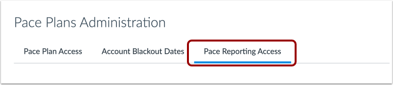 Open Pace Reporting Access