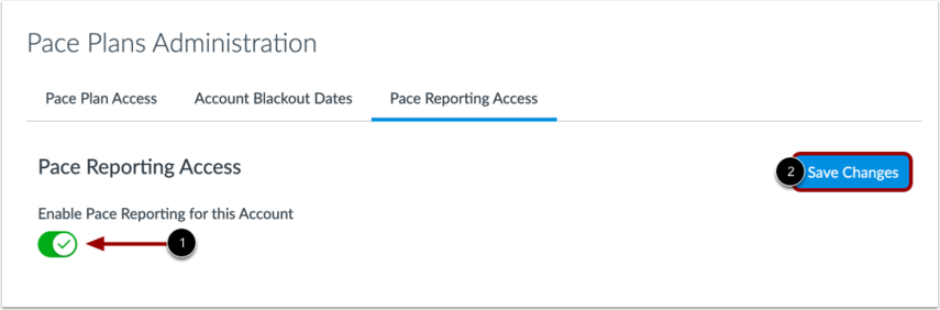 Enable Pace Reporting Access