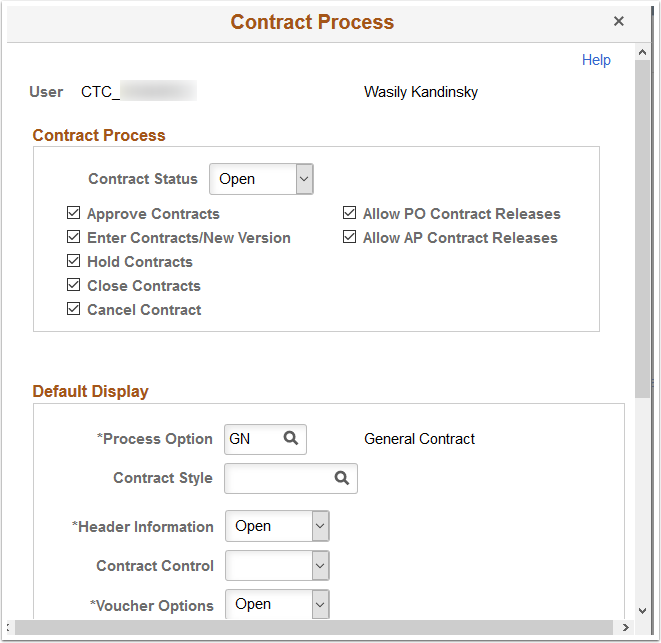 Contract Process page