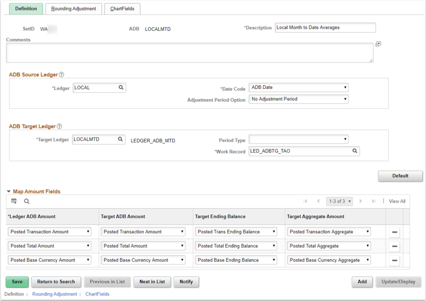 ADB Definition Page Example