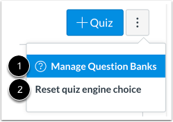 View Quizzes Options