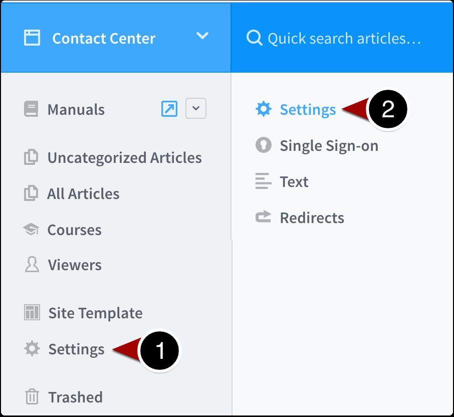 Navigate to site settings