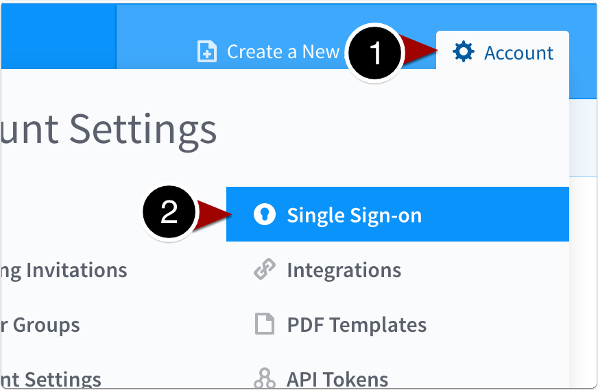 Navigate to Single Sign-on
