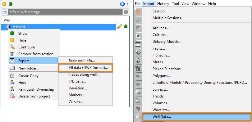 Bulk import well data