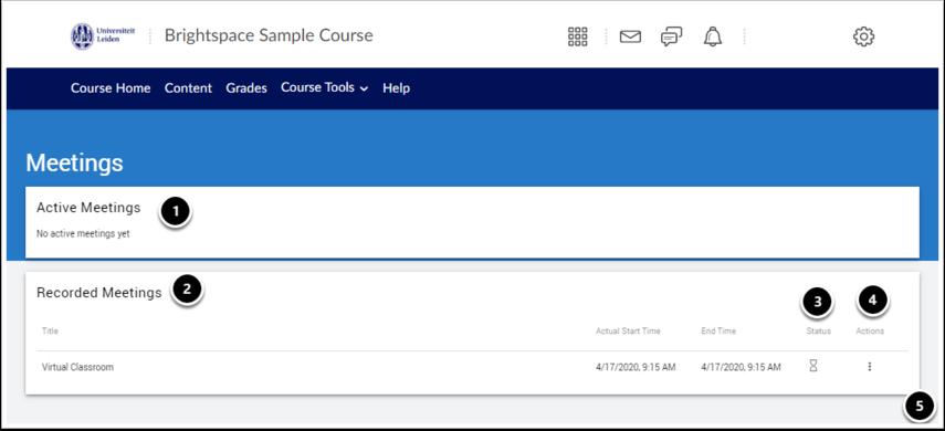 Virtual Classroom - Brightspace Sample Course - Google Chrome