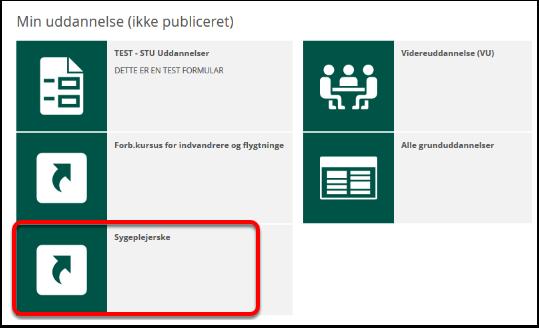 Serviceportal - Min uddannelse (ikke publiceret) - Mozilla Firefox (Privat browsing)