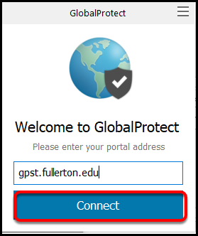 GlobalProtect portal address