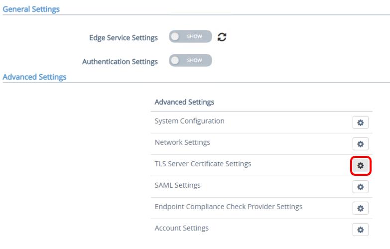Configuring TLS/SSL Certificates for Unified Access Gateway Appliances