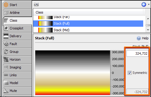 1 - The min/max values of the Class colourbar