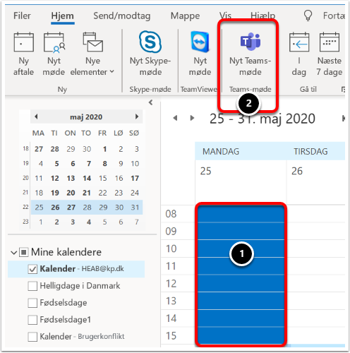 Kalender - HEAB@kp.dk - Outlook