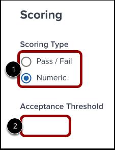Define Scoring Details