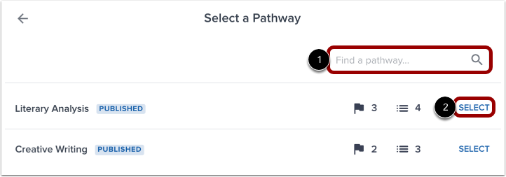 Select Pathway