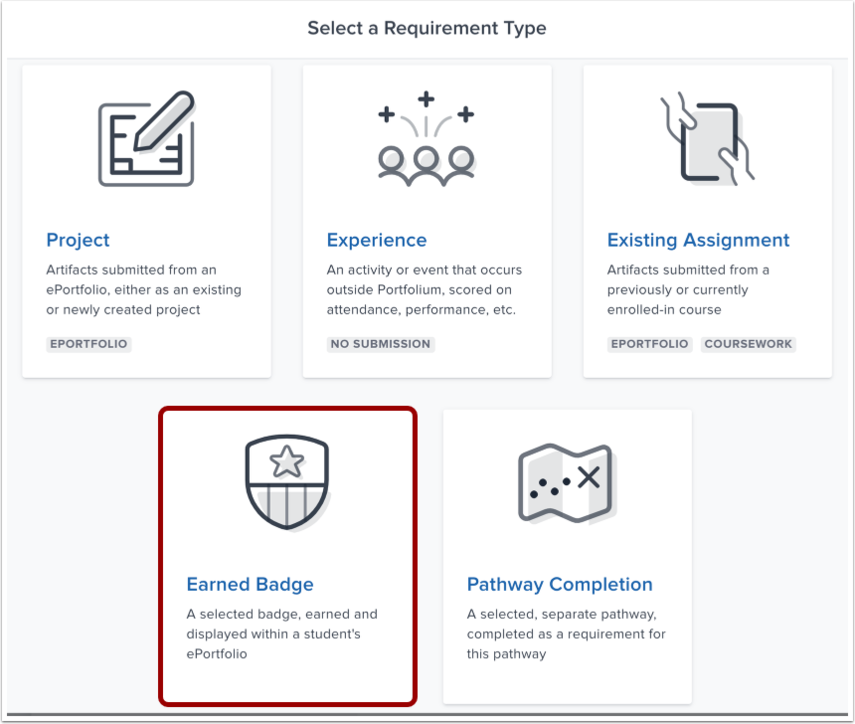 Select Project Requirement Type